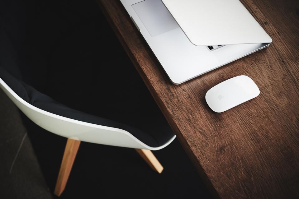 Apple Laptop on Desk